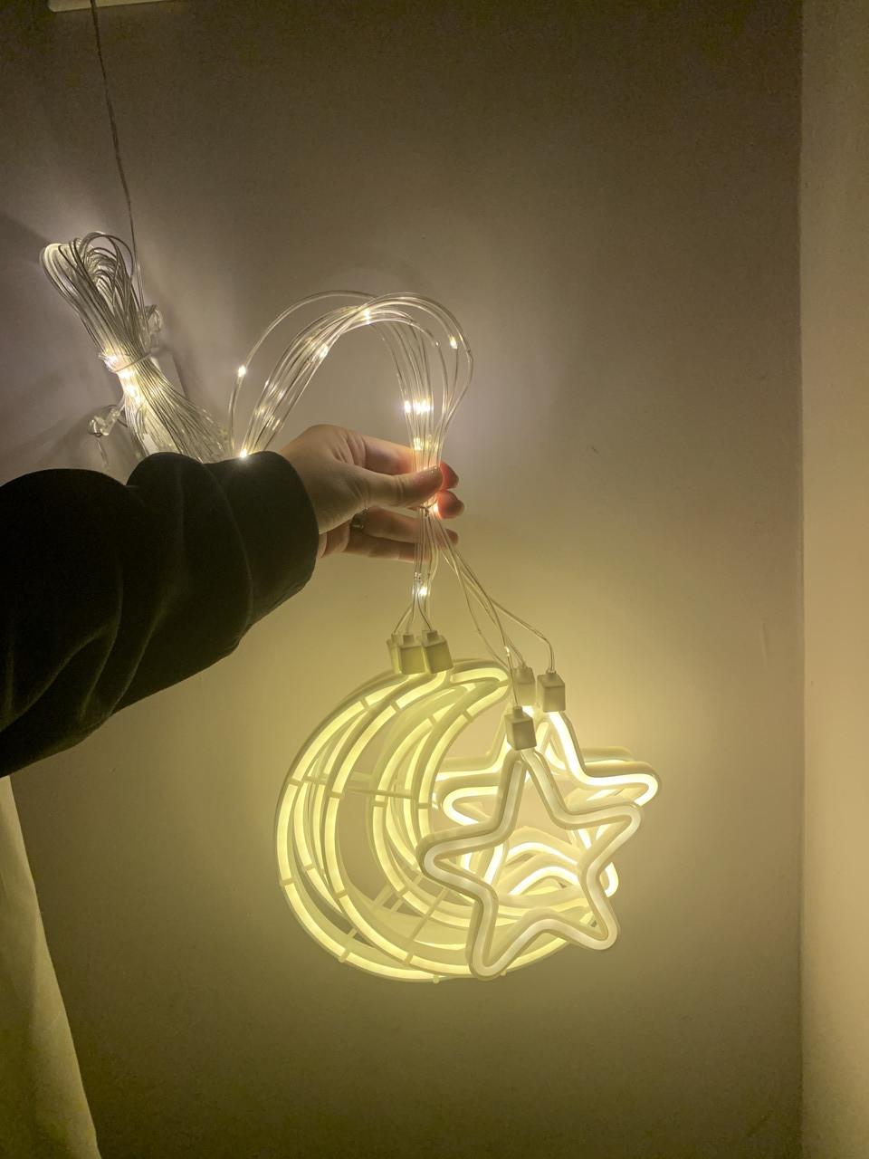 Гірлянда-нічник Зоряна ніч 3D неон
