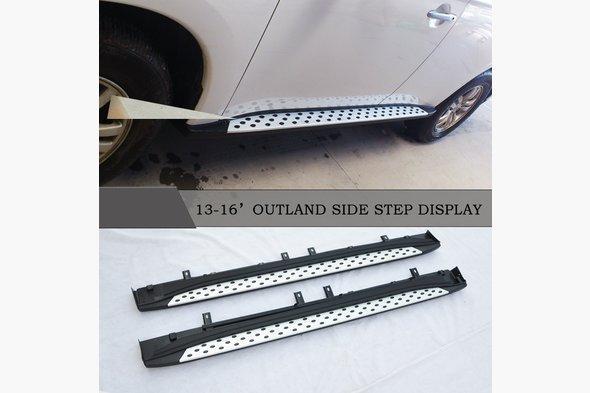 Боковые пороги Оригинал (2 шт, алюминий) - Mitsubishi Outlander 2012↗ и 2015↗ гг.