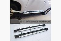 Боковые пороги Оригинал (2 шт, алюминий) - Mitsubishi Outlander 2012↗ и 2015↗ гг., фото 1