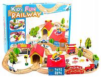 Детская деревянная дорога, деревянная железная дорога,совместима с Ікеа