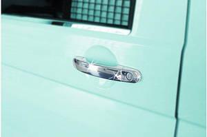 Накладки на ручки (нержавейка) 3 штуки, OmsaLine - Итальянская нержавейка - Volkswagen Caddy 2004-2010 гг.