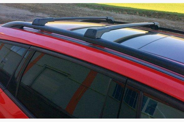 Перемычки на рейлинги без ключа (2 шт) Черный - Mitsubishi Pajero Sport 2008-2015 гг.