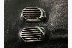 Решетка на повторитель `Овал` (2 шт, ABS) - Hyundai Sonata YF 2010-2014 гг.