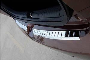 Накладки на задний бампер OmsaLine (2 част, нерж) - Hyundai I-20 2014-2018 гг.
