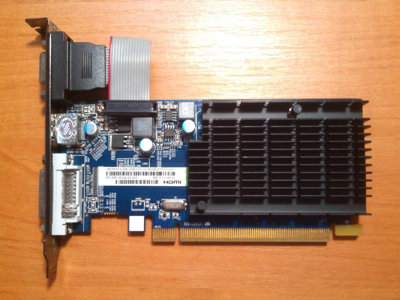 Sapphire HD 5450 512MB 64bit GDDR3 HDMI PCI-E Гарантія!