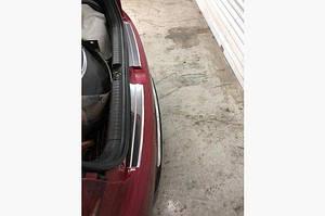 Накладки на задний бампер Carmos (Active, 2 част, нерж) - Hyundai I-20 2014-2018 гг.