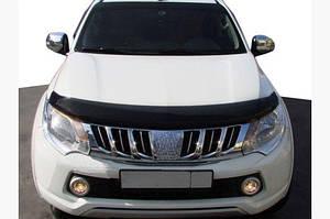 Дефлектор капота (SIM) - Mitsubishi Pajero Sport 2015↗ гг.