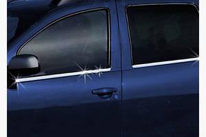 Молдинг стекла (4 шт, нерж) - Nissan Terrano 2014↗ гг.