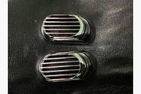 Решетка на повторитель `Овал` (2 шт, ABS) - Mitsubishi Galant 1992-1998 гг., фото 1
