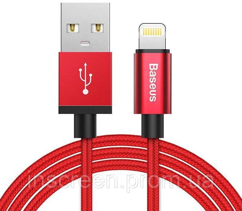 Кабель Baseus Simple Version of AntiLa Series MFi Cable Lightning (1m) Red (CAETRTC-MF09)