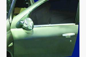 Наружняя окантовка стекол (4 шт, нерж.) - Renault Clio и Symbol 2009-2012 гг.