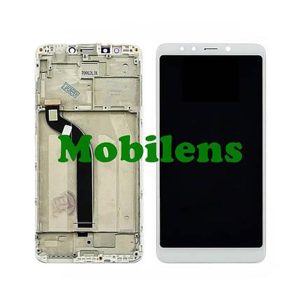 Xiaomi Redmi 5, MDG1, MDT1, MDE1 Дисплей+тачскрін(модуль) білий *в рамці Original *PRC, фото 2