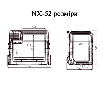 Компресорний Автохолодильник Alpicool NX52 (52 літри). Режим роботи +20℃ до -20℃   12/24/220V, фото 9