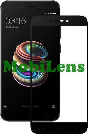 Xiaomi Redmi 5A, MCT3B, MCG3B, Redmi Go M1903C3GG Захисне скло чорне, фото 2