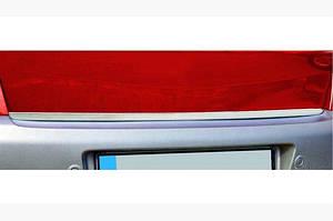 Кромка багажника (нерж.) SD, OmsaLine - Итальянская нержавейка - Renault Megane II 2004-2009 гг.
