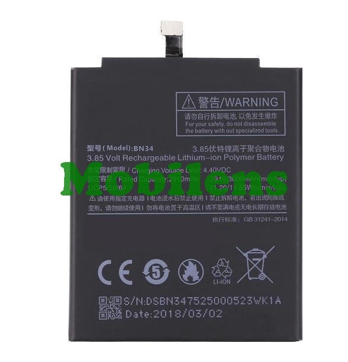 Xiaomi Redmi 5A, BN34, MCT3B, MCG3B Аккумулятор