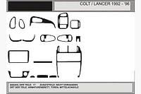 Акция! Накладки на панель (под карбон) - Mitsubishi Colt 1992-1996 гг.