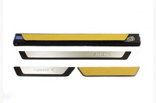 Накладки на пороги Flexill (4 шт) Sport - Nissan Micra K12 2003-2010 гг.
