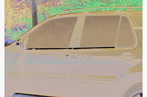 Наружняя окантовка стекол (4 шт, нерж) Carmos - Турецкая сталь - Mercedes ML W163