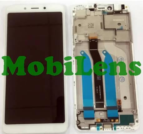 Xiaomi Redmi 6, Redmi 6A, M1804C3CG Дисплей+тачскрін(модуль) білий *в рамці *без датчика наближення, фото 2