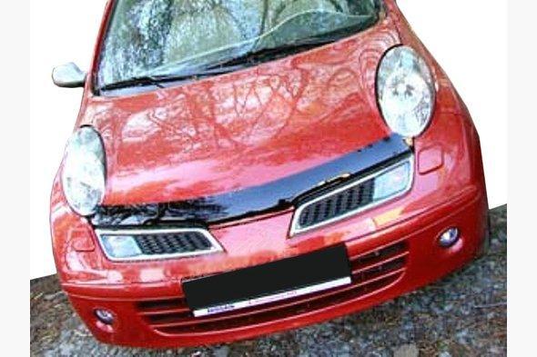 Дефлектор капота (SIM) - Nissan Micra K12 2003-2010 гг.