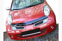 Дефлектор капота (SIM) - Nissan Micra K12 2003-2010 гг., фото 1