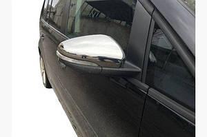 Накладки на зеркала (2 шт, нерж) Carmos - Турецкая сталь - Volkswagen Touran 2010-2015 гг.