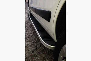 Боковые пороги Tayga Grey (2 шт., алюминий) - Hyundai Kona