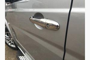 Накладки на ручки (4 шт, нерж.) - Mercedes Vaneo W414