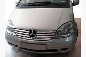 Накладки на решетку радиатора (7 частей, нерж) - Mercedes Vaneo W414
