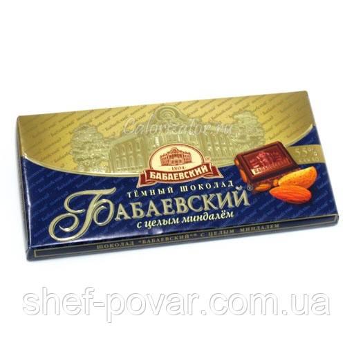 """Шоколад темний з цілим мигдалем 100 гр. ТМ """"Бабаєвський"""""""