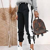 Стильні жіночі спортивні штани з вставками з боків, фото 1