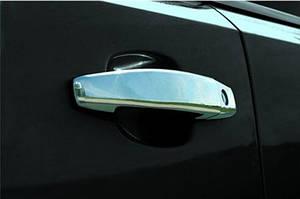 Накладки на ручки (4 шт) Carmos - Турецкая сталь - Opel Meriva 2010-2017 гг.