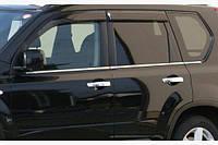 Наружняя окантовка стекол (нерж) OmsaLine - Итальянская нержавейка - Nissan X-trail T31 2007-2014 гг.