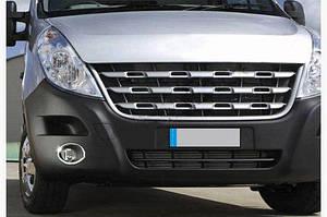 Накладки на противотуманки (2 шт, нерж.) - Opel Movano 2010↗ гг.