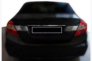 Накладка над номером (нерж) - Honda Civic Sedan IX 2012-2016