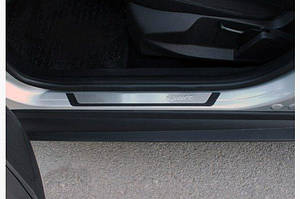 Накладки на пороги Flexill (4 шт, нерж) Sport - Honda Civic Sedan IX 2012-2016