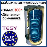 Бойлер 300 литров косвенного нагрева Tesy (EV107S230065F41TP2). Косвенный накопительный водонагреватель