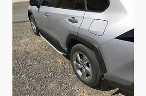 Боковые пороги Fullmond (2 шт., алюминий) - Toyota Rav 4 2019+