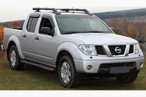 Ветровики (4 шт, Niken) - Nissan Navara 2006-2015 гг.