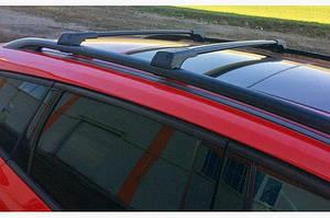 Перемычки на рейлинги без ключа (2 шт) Черный - Nissan Almera 2012↗ гг.