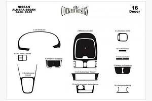 Накладки на панель (00-03) - Nissan Almera 2000-2006 гг.
