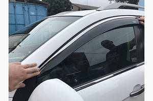 Ветровики с хромом (4 шт, Niken) - Toyota Corolla 2019↗︎ гг.