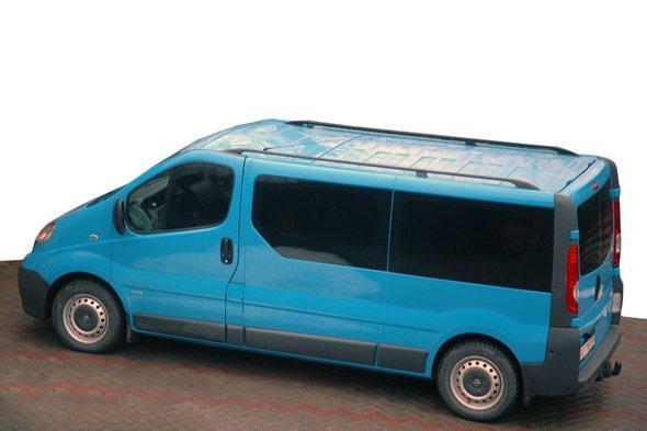 Рейлинги Черные Короткая база, Пласт. ножки - Nissan Primastar 2002-2014 гг.