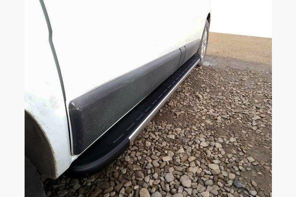 Боковые пороги Duru (2 шт., алюминий) Длинная база - Nissan Primastar 2002-2014 гг.