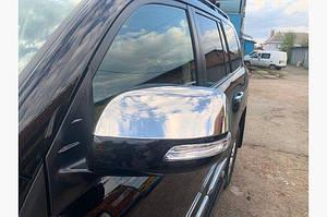 Накладки на зеркала (2 шт, нерж.) OmsaLine - Итальянская нержавейка - Toyota LC 150 Prado