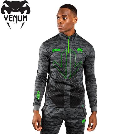 Толстовка мужская Venum Arrow Loma Signature Collection Collared Zip Sweatshirt Camo, фото 2