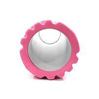 Массажный валик Dobetters Foam Roller Pink 45*14 см для мышц всего тела массажер (спина, руки, ноги), фото 2