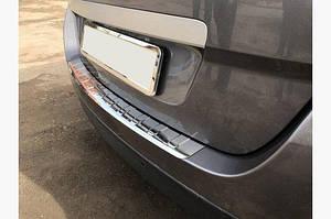 Накладка на задний бампер Carmos (Grand, нерж.) - Renault Scenic/Grand 2016↗︎ гг.