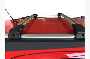 Поперечный багажник на интегрированые рейлинги под ключ (2 шт) Серый - Suzuki SX4 S-Cross 2013-2016 гг.